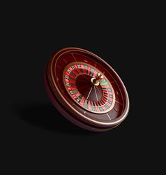 Luxury casino roulette wheel isolated on black vector