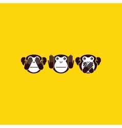 Monkey background vector