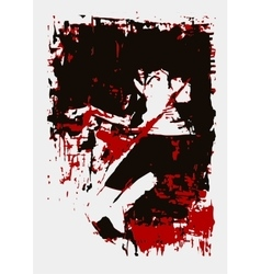 paint girl lies red black vector image