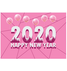 Pink simple new year happy festival event banner2 vector