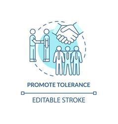 Promote tolerance concept icon vector
