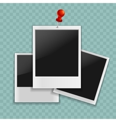 Realistic photo frame for your design vector image