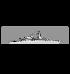 Royal navy type 21 amazon-class frigate vector