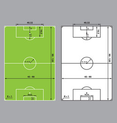 soccer or football field size vector image