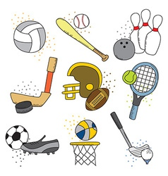 Sports design background vector