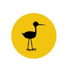 stork silhouette vector image