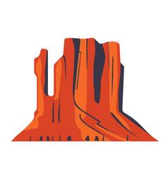 top mountain desert canyon peaks logo silhouette vector image