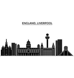 Uk liverpool architecture city skyline vector