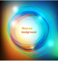Vibrant rings background vector
