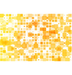 Yellow shades occasional opacity mosaic over white vector