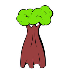 Baobab tree icon cartoon vector