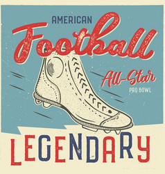 Classic usa football t shirt design american vector