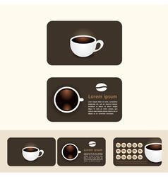 coffee business cards discount and promotional vector image vector image