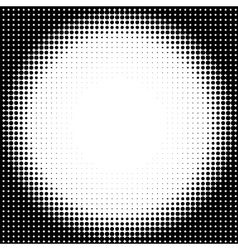 Halftone circle background vector image vector image