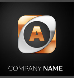 Letter a logo symbol in the colorful square on vector