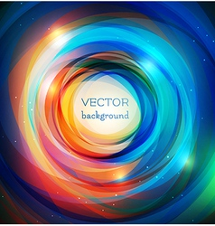 Rainbow rings background vector image