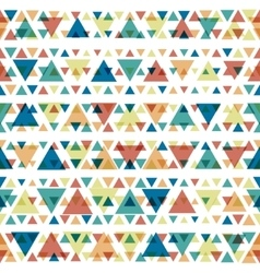 Seamless color triangles pattern vector image vector image