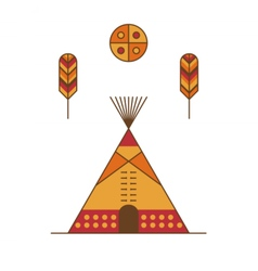 Traditional native american tipi vector