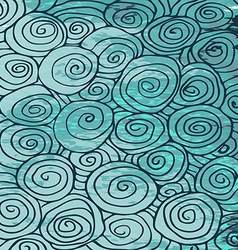 Waves hand drawn pattern abstract background curl vector image