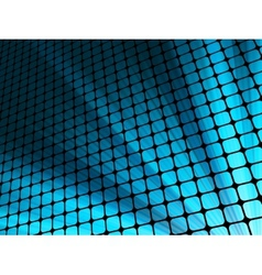 Blue rays light 3D mosaic EPS 10 vector image vector image
