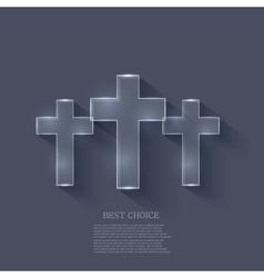 Cross on blue background eps 10 vector