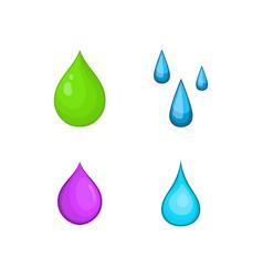drop icon set cartoon style vector image vector image