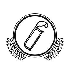 figure symbol hacksaw icon stock vector image