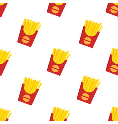 french fries seamless pattern vector image vector image