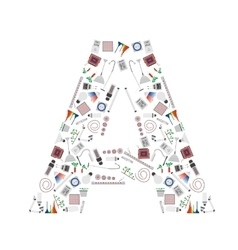 Letter A from phytolight icons vector image vector image