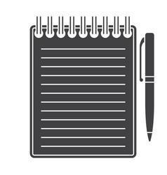 notebook silhouette vector image vector image
