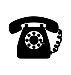 phone vintage telephone call line supplies icon vector image