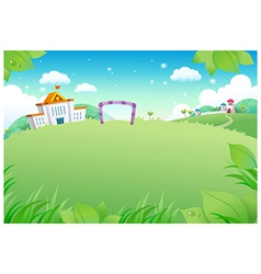 School landscape background vector image vector image
