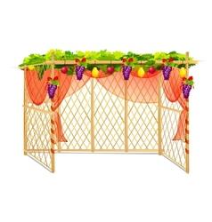 Sukkah for celebrating Sukkot vector image