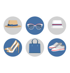 summer mode accessories set vector image vector image