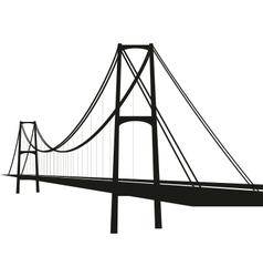 suspension cable bridge vector image vector image