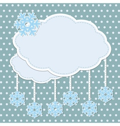 Winter frame with snowflakes vector image