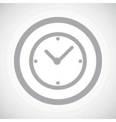 Grey clock sign icon vector