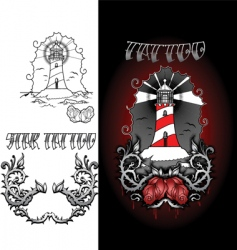 life house tattoo vector image vector image
