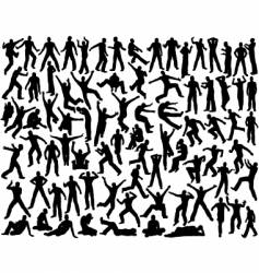 male silhouettes vector image