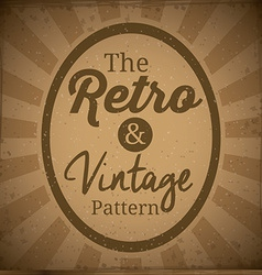 Retro and Vintage background design vector image