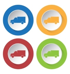 set of four icons - lorry car vector image