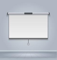 white board meeting screen movie billboard vector image