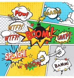 Comic set background vector image vector image