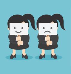 happy and unhappy vector image