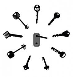 mixed keys vector image