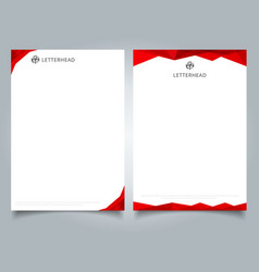 Abstract creative letterhead design template red vector