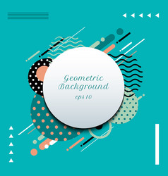 abstract geometric circles pattern composition vector image