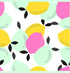 Abstract pattern with lemons vector