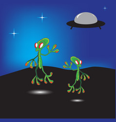 aliens vector image