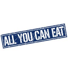 All you can eat square grunge stamp vector